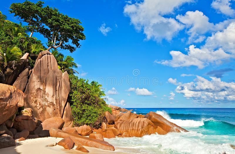 Download Seascape view stock photo. Image of resort, huge, seychelles - 23568114