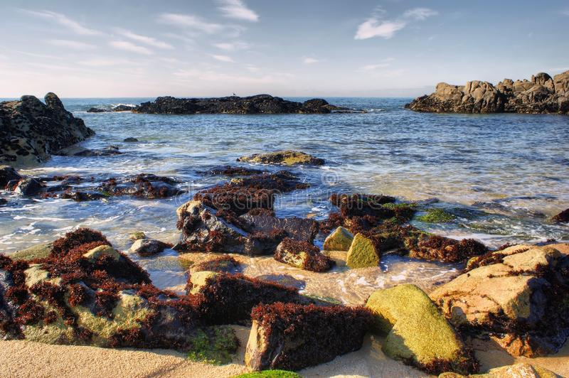 Seascape of Vila do Conde beach royalty free stock photography