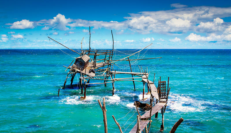 Seascape: Włochy, Abruzzo, Costa dei Trabocchi obrazy stock