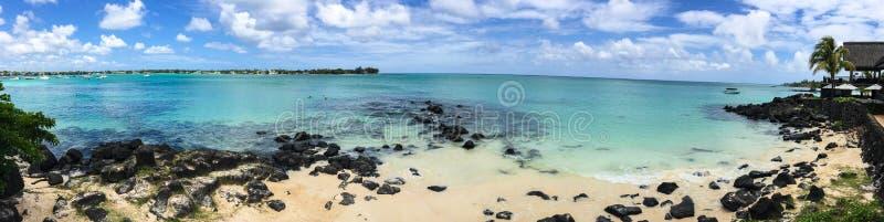 Seascape w Uroczystym Baie, Mauritius zdjęcia stock