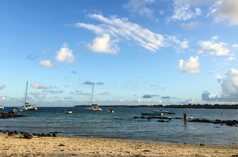 Seascape w Uroczystym Baie, Mauritius fotografia royalty free
