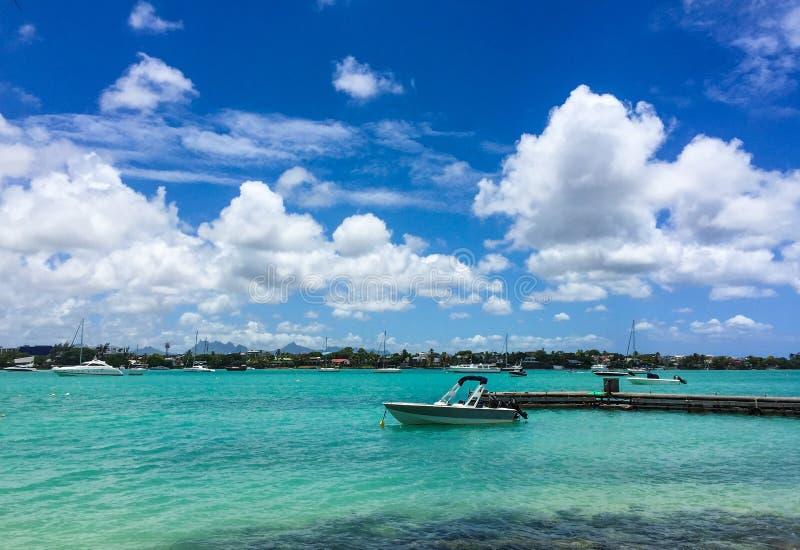 Seascape w Uroczystym Baie, Mauritius fotografia stock
