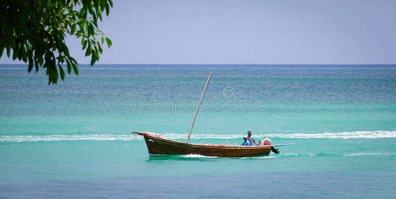 Seascape w Uroczystym Baie, Mauritius obraz stock