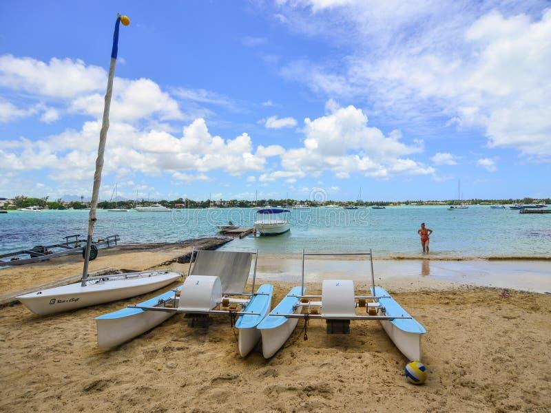 Seascape w Uroczystym Baie, Mauritius obrazy stock