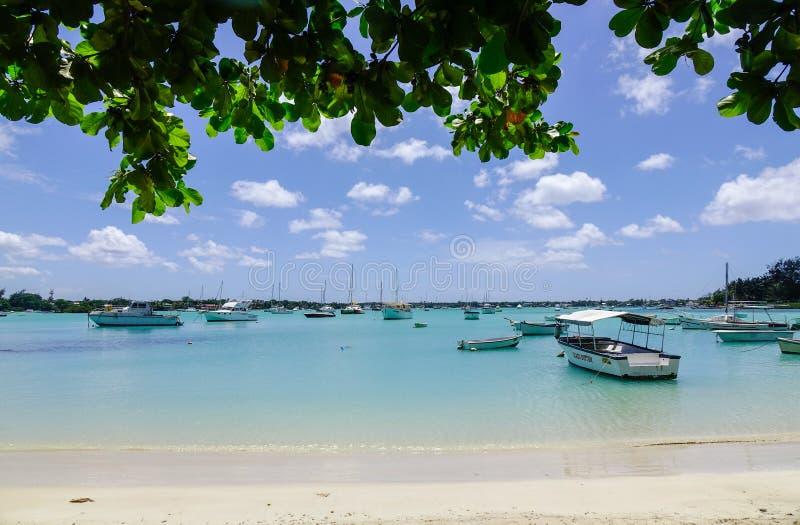 Seascape w Uroczystym Baie, Mauritius zdjęcie royalty free