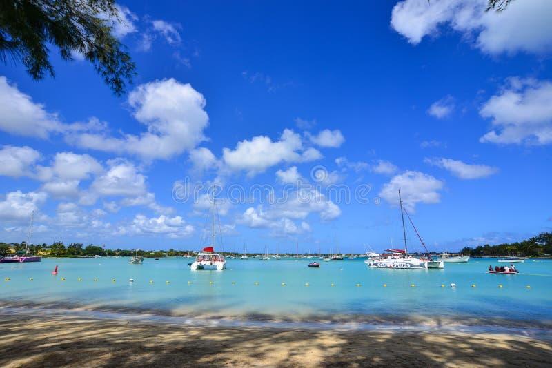 Seascape w Uroczystym Baie, Mauritius zdjęcie stock