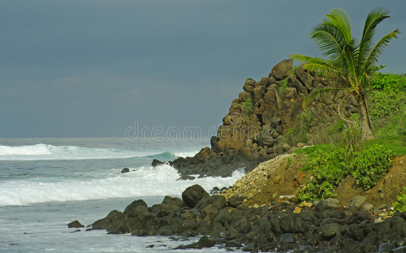 Seascape in west Africa. royalty free stock image
