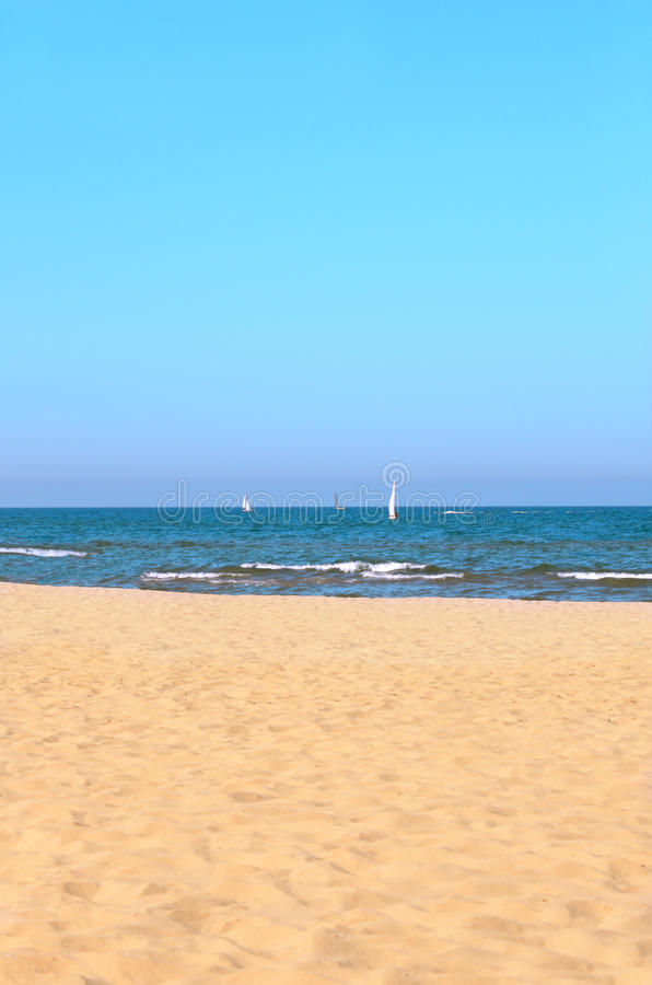 Download Seascape with yachts stock image. Image of seashore, destinations - 26182831