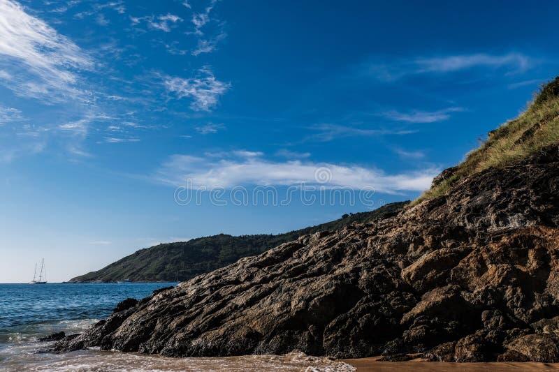 Seascapebakgrund arkivfoton
