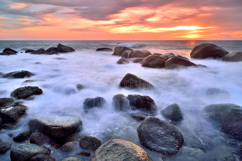 Download Seascapes stock photo. Image of sunset, ocean, color - 33438602