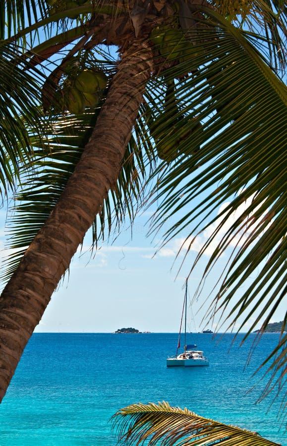 seascapesiktsyacht fotografering för bildbyråer