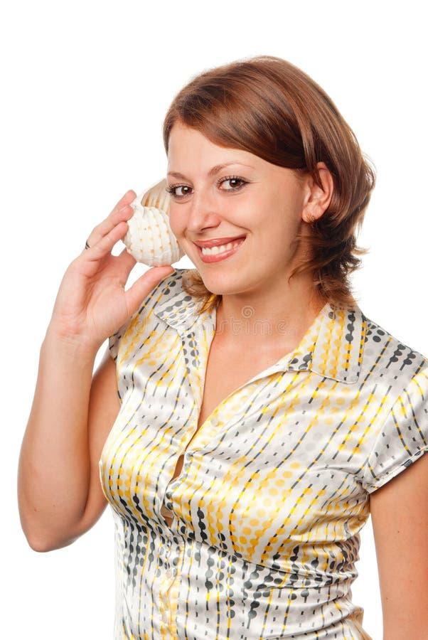 Download Seashell stock image. Image of listening, swash, adult - 15213667