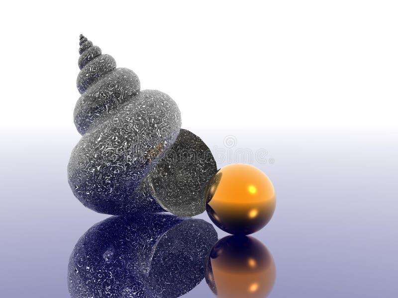 Seashell ilustración del vector