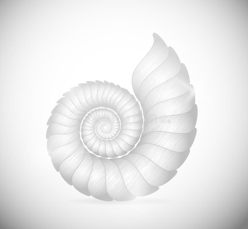 The seashell. Illustration of a sea shell clam. Eps 10 stock illustration