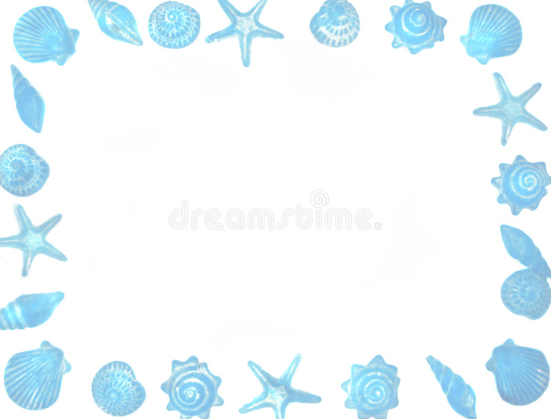 Seashell border stock illustration