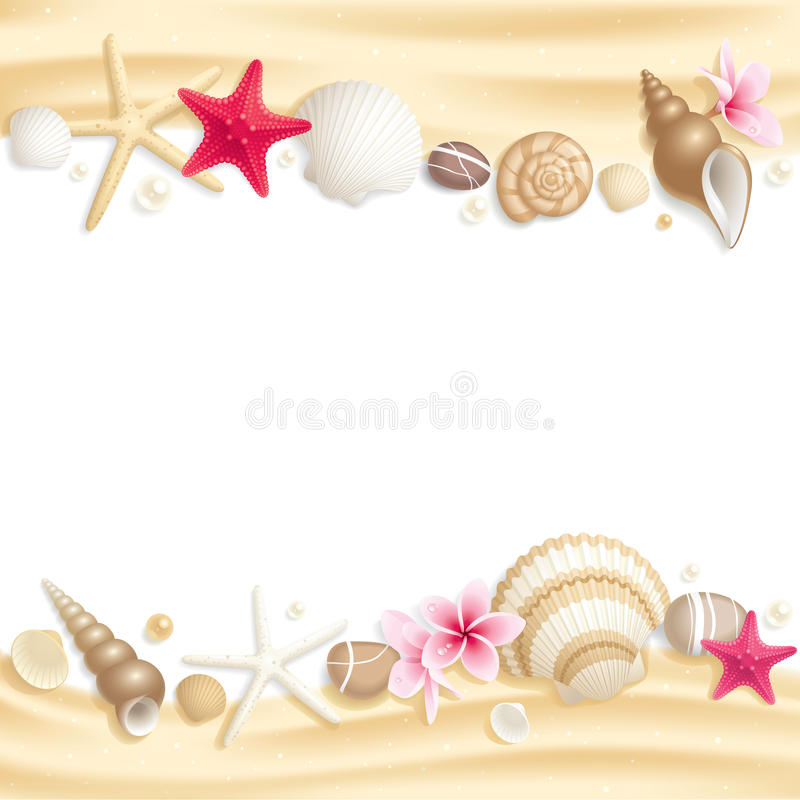Download Seashell frame stock image. Image of cutout, border, space - 20466973