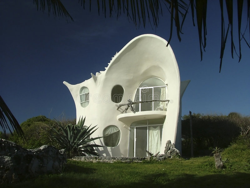 Download Seashell house stock image. Image of tropical, original - 194463