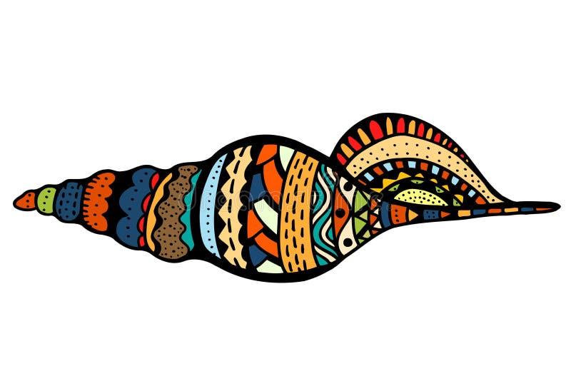 Seashell kreskowa sztuka royalty ilustracja