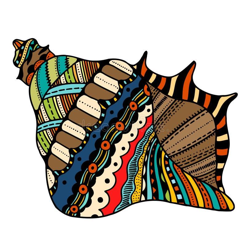 Seashell kreskowa sztuka ilustracji
