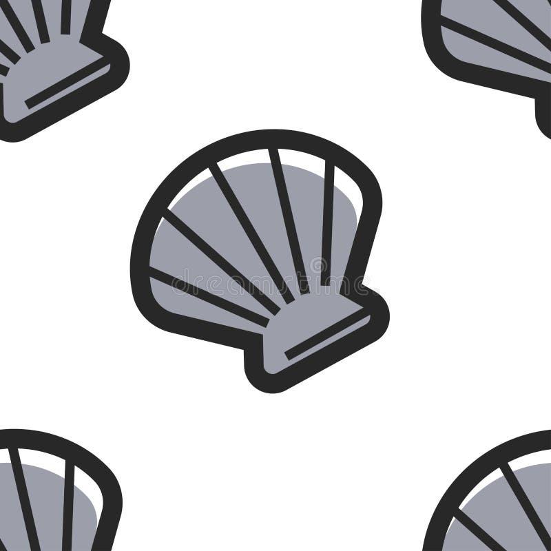 Seashell Kubańskiego symbolu konchy bezszwowa deseniowa skorupa ilustracji