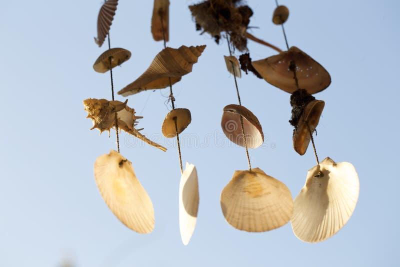 Seashell mobilny rzemiosło zdjęcie royalty free