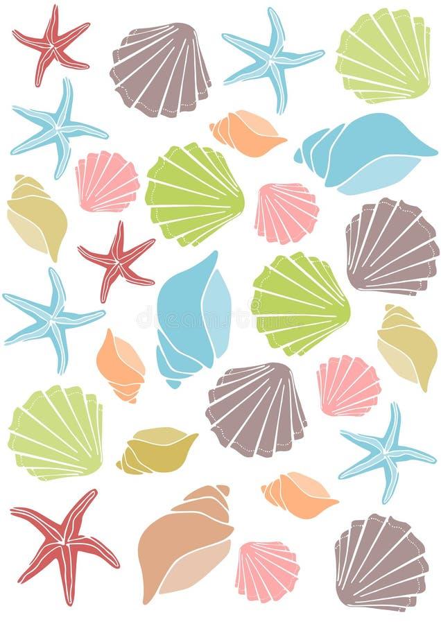 Free Seashell Pattern Royalty Free Stock Image - 20512996