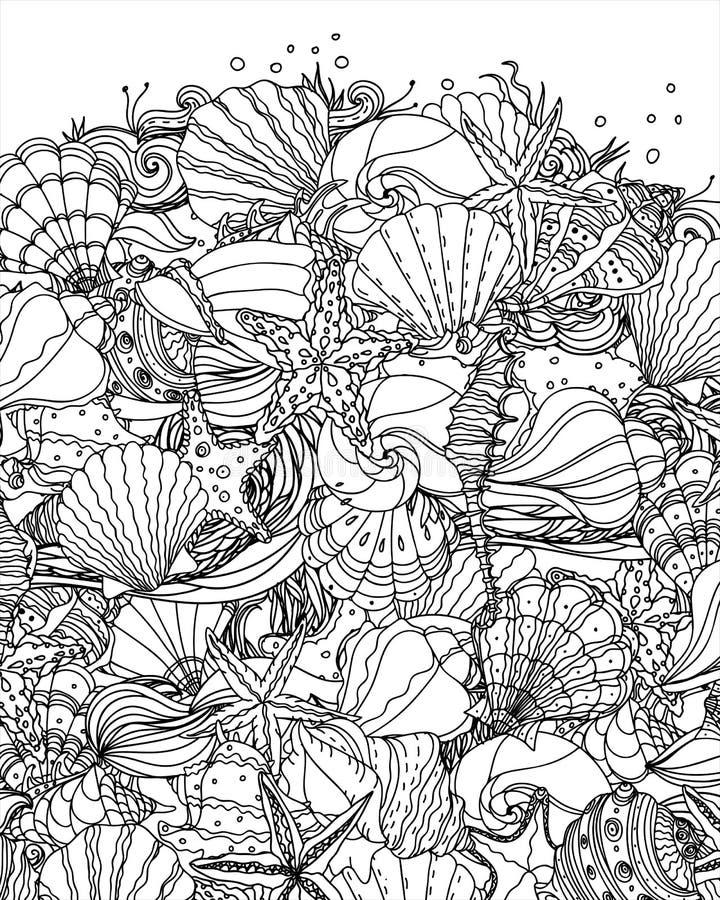 Free Seashell Pattern Art Royalty Free Stock Images - 85809469