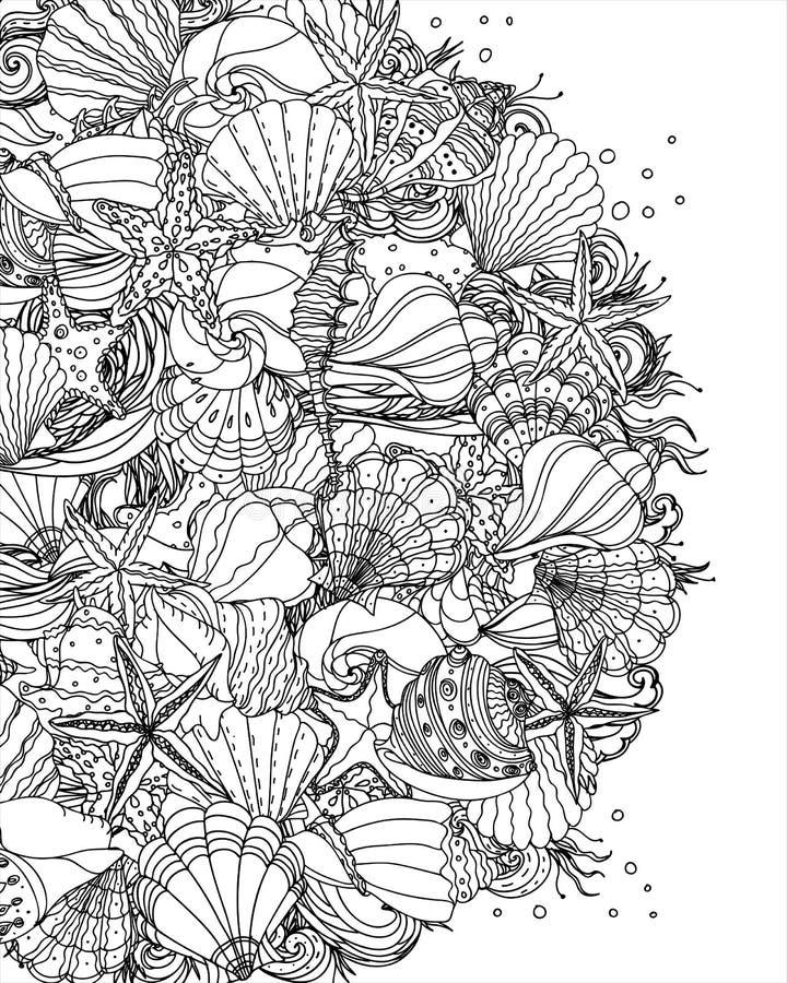 Free Seashell Pattern Art Background Stock Images - 85809434