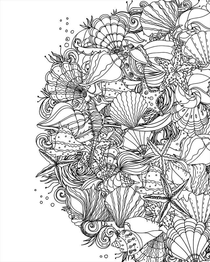 Free Seashell Pattern Art Background Stock Photo - 85809440