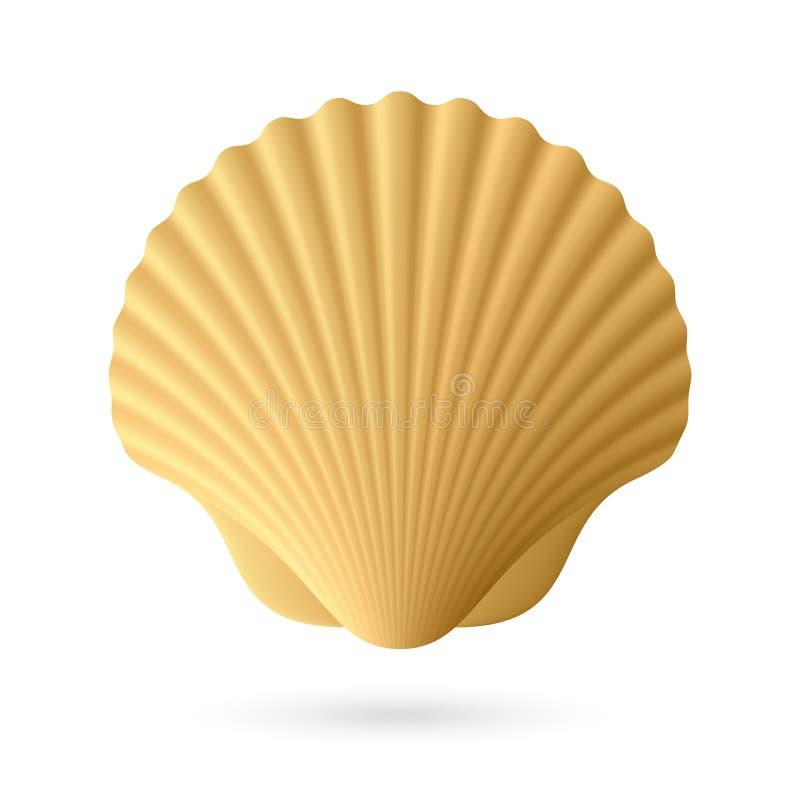 Seashell Scallop иллюстрация штока