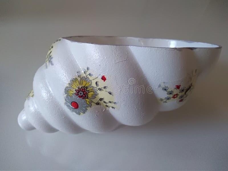 Seashell shaped bowl royalty free stock photo
