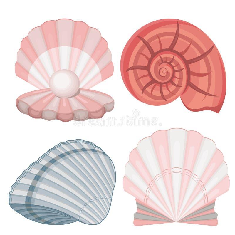 seashells μαργαριτάρι ελεύθερη απεικόνιση δικαιώματος