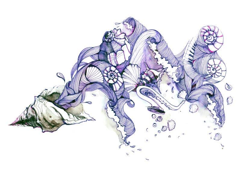seashells ilustração stock