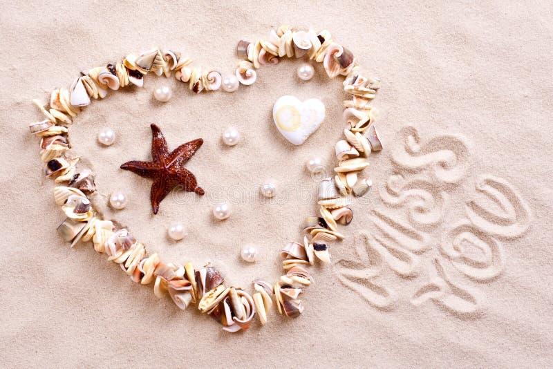 Seashells en sable photographie stock libre de droits