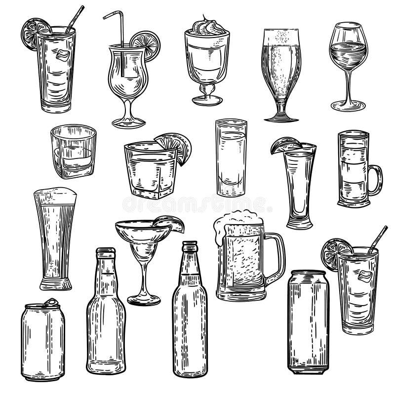 Seashells ilustracyjny czarny i biały bezszwowy wzór ilustracja wektor