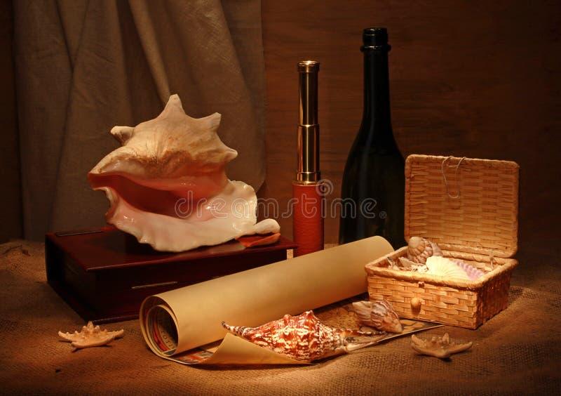 Download Seashells and telescope stock photo. Image of jute, vintage - 11479308