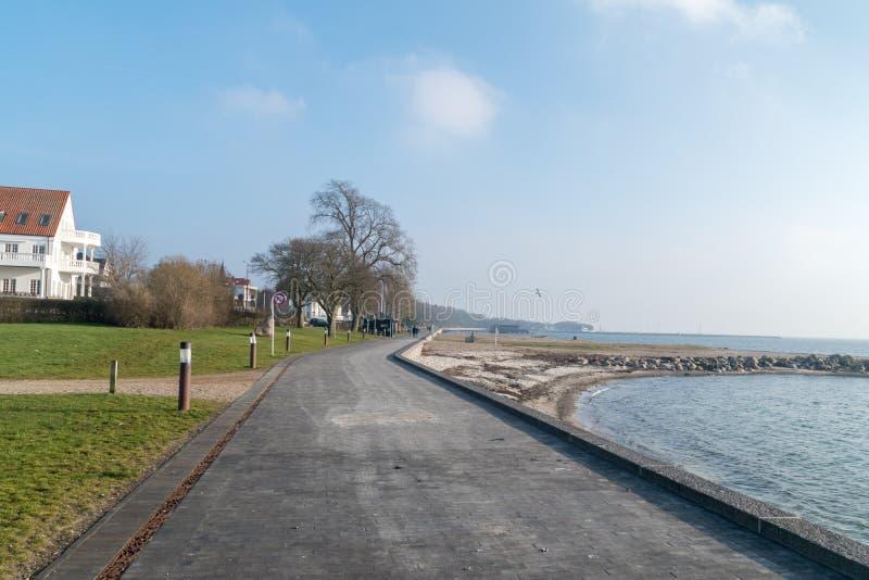 Seashore Балтийского моря в Sonderborg, Дании стоковое фото rf