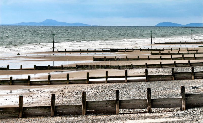 seashore вэльс королевства северный соединенный tywyn стоковое фото