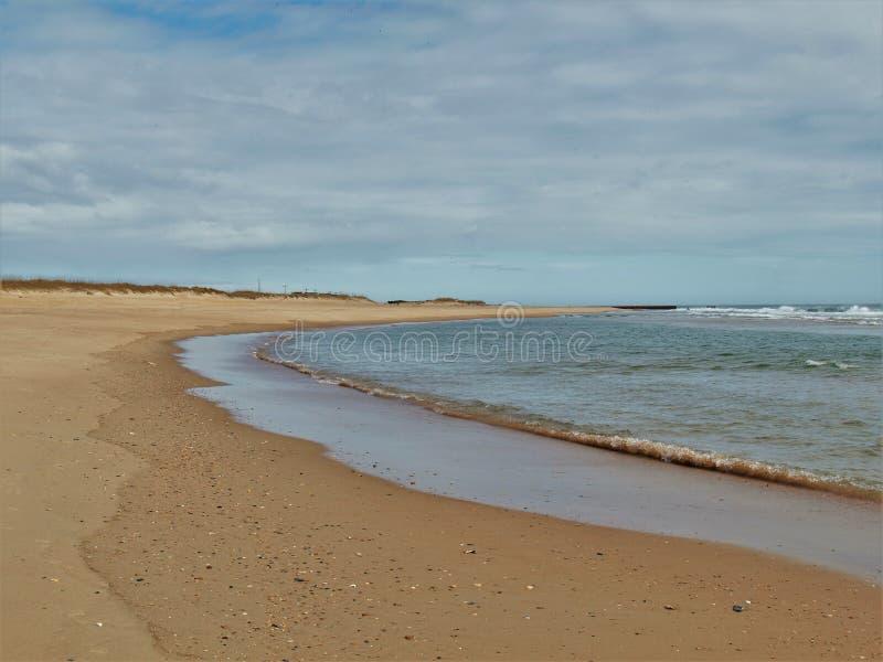 Seashore Гаттераса накидки национальный в Северной Каролине стоковое изображение