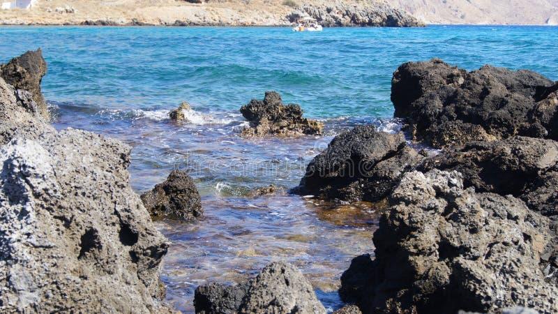 seashore каменистый стоковое фото