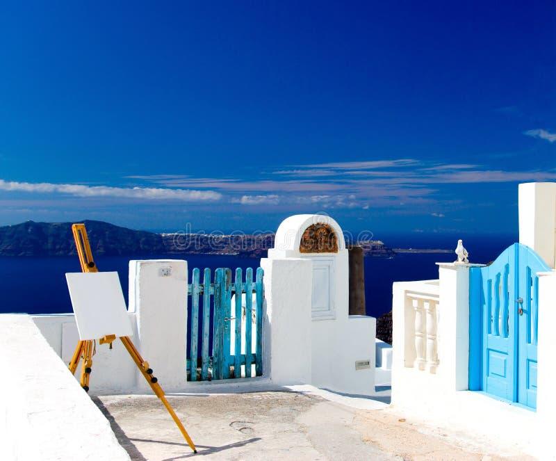 seashore мольберта зданий стоковое фото