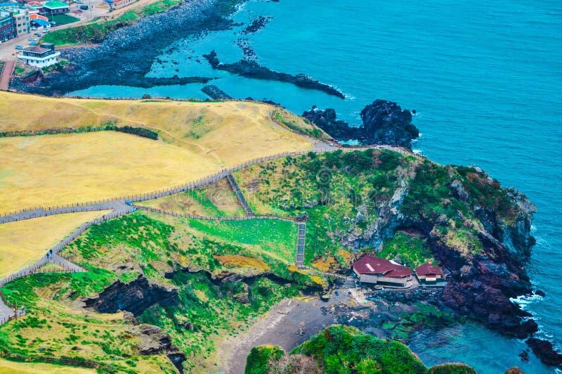 Seashore, остров Jeju, Корея стоковые фото