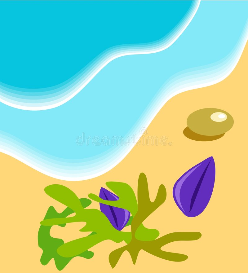 seashore royaltyfri illustrationer