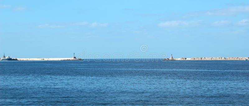 Seashore in Alexandria stock photo