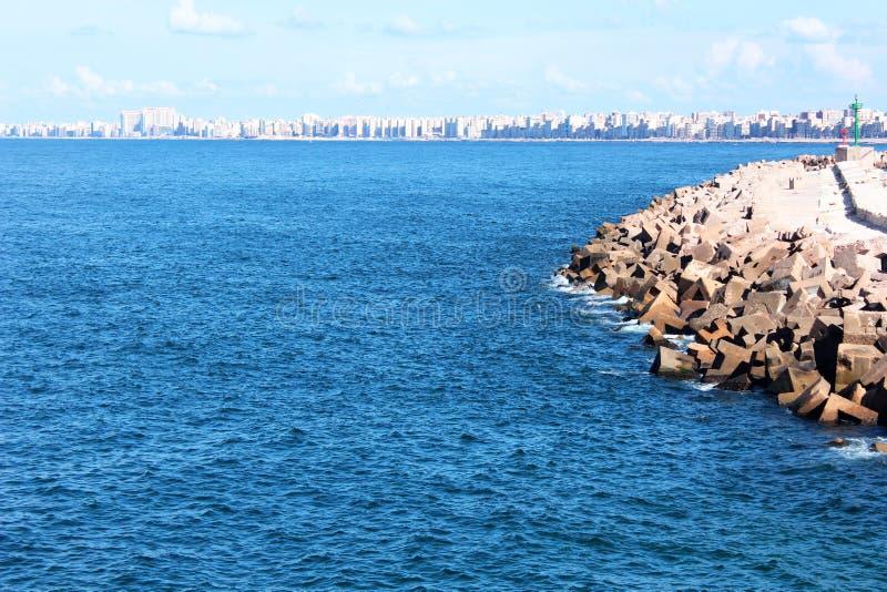 Seashore in Alexandria stock images