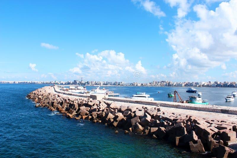Seashore in Alexandria royalty free stock photo