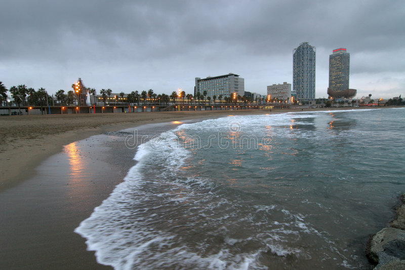 Seashore in Barcelona. An image of a seashore in Barcelona royalty free stock images