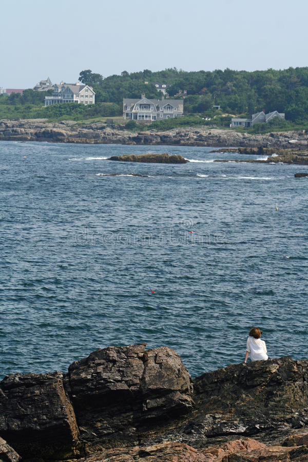 Seashore de Maine fotografia de stock
