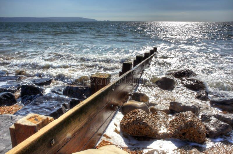 Seashore Groyne imagem de stock