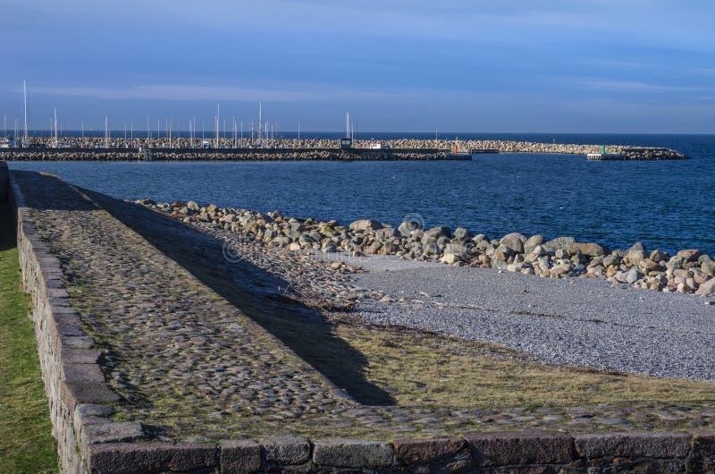 Seashore in Helsingor, Denmark stock photos